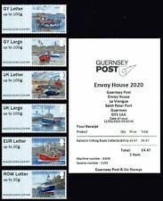 Post & Go ATM aus Guernsey Motiv Fischerboote, kpl. postfrischer Satz mit ET-KQ!