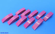 LEGO N°6037650 / 1x3 TUILES en béton Arc MAGENTA COLOR / 10-pc