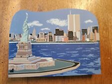 New York City Skyline W/ Twin Towers & Statue Of Liberty 2001 Cat'S Meow Village