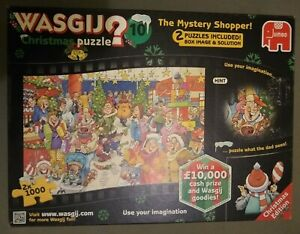 Wasgij - 2 x 1000 Piece Jigsaw Puzzles - Christmas No 10 - The Mystery Shopper!