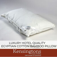 Kensingtons® Luxury Bamboo Bed Pillows 74x48cm 100% Egyptian Cotton Cover 400T/C