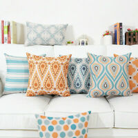 Geometry Pattern Cotton Linen Pillow Case Office Cushion Cover Home Decoration