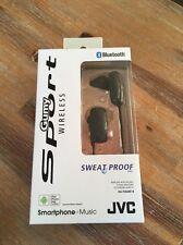 JVC Gumy Sport Bluetooth Wireless Sweat Proof Headphones HA-F250BT-B