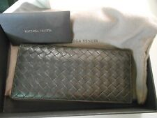 Bottega Veneta Unisex Leather Intercciaco Woven Long wallet