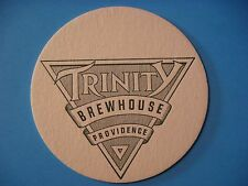 Older Beer Bar Coaster ~ TRINITY Brewhouse ~ Providence, RHODE ISLAND Since 1994
