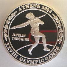 Zambia 2003 Javelin 4000 Kwacha Silver Coin,Proof, Mintage 500pcs