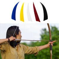 50Pcs 4 inch Shield Shape Turkey Feather Arrow Archery Hunting Fletching For DIY