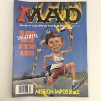 Mad Magazine July 1996 No 347 Unofficial Magazine 1996 Olympics Very Fine VF 8.0