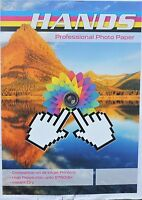 A4 Hands 135gsm Self Adhesive Gloss Photo Paper (20, 40, 100 Sheets)