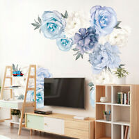 2pcs Removable Rose Flower Wall Stickers Mural DIY Art Decal Home Room Decor New