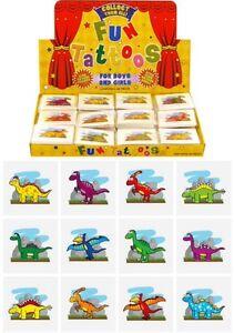 12x Mini Dinosaur Temporary Tattoos Boys Girls Party Bag & Stocking Fillers