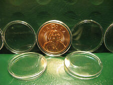"10 Copper/Silver Round Capsules 39MM snap lock acrylic ""Protect Your Investment"""