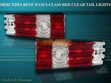1986-1991 MERCEDES BENZ W126 S-CLASS RED / CLEAR TAIL LIGHTS