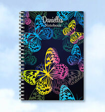 Personalised Printed Notebook theme Butterfly A5 - ADD ANY NAME great gift idea