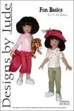 "Fun Basics Doll Clothes Sewing Pattern for 12"" Bethany Kish Designs by Jude"