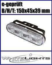LED Tagfahrlicht Standlicht Positionslicht DRL im Alugehäuse für Motorrad