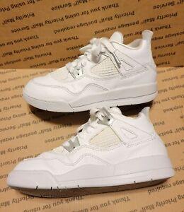 Nike Air Jordan 4 Retro Pure Money Boys Girls Kids Youth Sneakers Shoes Size 1Y