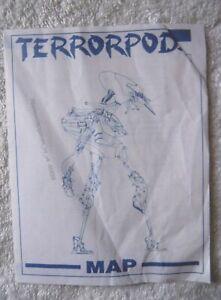 60889 Instruction Map - Terrorpods - Commodore Amiga (1987)