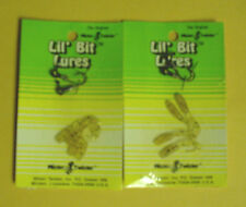 2 Packs with 4 Bodies /& 2 Jigheads Each of Mister Twister Lil Bit Lures-Yellow