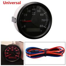 Universal Car Marine Tachometer Gauge WEMA LCD Tacho Hour Meter 0-8000 RPM 85mm