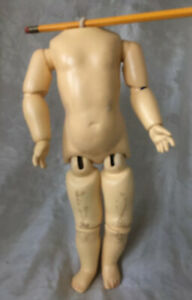 """Antique/Vintage Wood Ball Jointed 11 Piece Strung 12"""" Doll Body"""