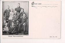 Vintage Postcard Kaiser Wilhelm II, German Emperor The Empress  & Royal Family