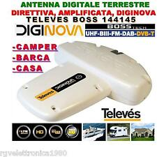 ANTENNA DIGITALE TERRESTRE DIGINOVA BOSS TECH LTE UHF+VHF 22dB TELEVES 144145
