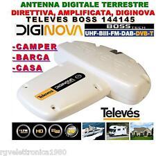 ANTENNA DIGITALE TERRESTRE DIGINOVA BOSS TECH LTE UHF+VHF 22dB TELEVES 144145