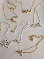 Zodiac Sign Astrology Necklace Surf Jewellery Gold/Silver Women's Gift