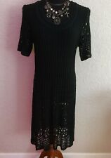 Gorgeous Black Knit Dress Made In Italy