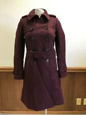 JCrew Wool Cashmere Icon Trench Coat $375 0 burgandy 28231
