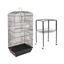 "Large Parrot Finch Cage 60"" Bird Two Doors Play Top Pet with Perch Stand Flat"