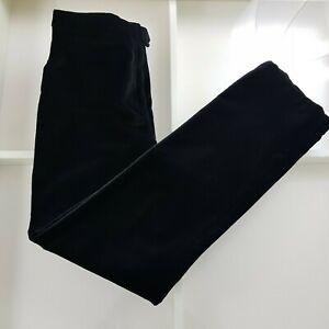 NICOLE FARHI DIVERSION Black Velvet Evening Trousers Modal Blend UK 14