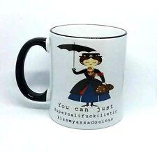 Funny Rude coffee mug Mary Poppins fuck-cunt super cali fragilistic secret santa