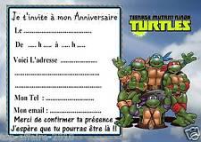 5 cartes invitation anniversaire Tortue Ninja  08  d'autres en vente !!