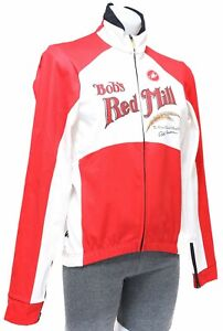 Castelli Bob's Red Mill Espresso Thermal Wind Cycling Jacket Men LARGE White MTB