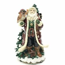 Fitz & Floyd Christmas Lodge Musical Santa Claus We Wish You A Merry Xmas Mib