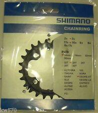 XT 10v - Corona/Chain ring originale Shimano 24T 4 fori x 64mm FC-M770/M771 -NEW