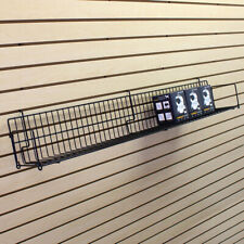 Deep Angled Slatwall Shelves with Powder Coated Steel 6 Wide x 24 Long Inch