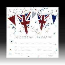 Union Jack Party Invitations - Pack of 10