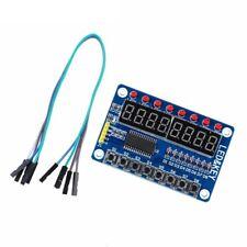 TM1638 Digitales LED Display mit 8-Tastenmodul für Arduino, Raspberry Pi