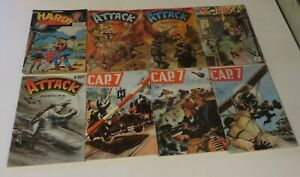 FRENCH COMIC BOOK DIGEST LOT OF 8 COMIC BOOK BUNDLE 1950-60s WAR  **FREE ***
