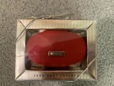 Relic Portable Contact Lens Case-with mirror--Red Fabric--New