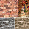 3D Vinyl Vintage Textured Faux Brick Stone Wallpaper Contact Paper Decorative