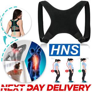 Posture Corrector Body Brace Bad Back Lumbar Shoulder Support Belt Women Men UK