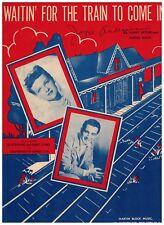 "1945 Waitin' for The Train To Come In"" Sheet Music, World War II Pero Como Song"