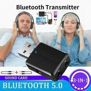 3-in-1 USB Bluetooth5.0 Transmitter/Receiver Adapter Wireless For TV Car
