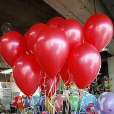 100Pcs 10'' Latex Balloons Helium Thickening Pearl Decorating for Weddding Party