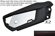 RED Stitch 2x Outer Door SKIN copre si adatta VAUXHALL OPEL VX220 Speedster 00-06