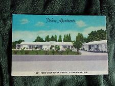 Vintage Postcard Deluxe Apartments, Gulf To Bay Blvd., Clearwater, Fla.